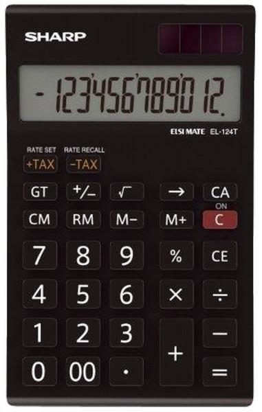 SHARP Tischrechner EL-124TWH, schwarz