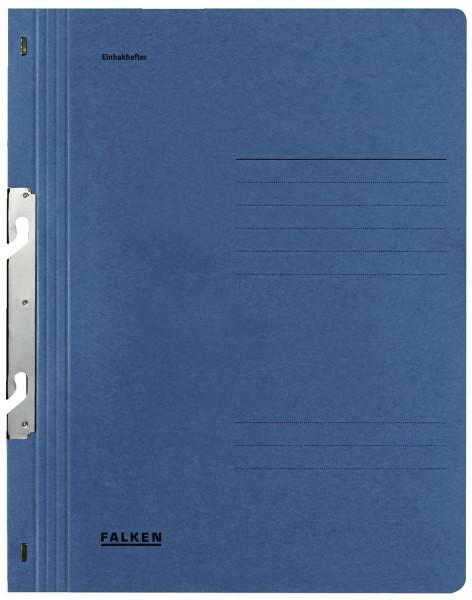 Falken Einhakhefter A4 blau ganzer Vorderdeckel kfm. Heftung, Manilakarton, 250 g/qm