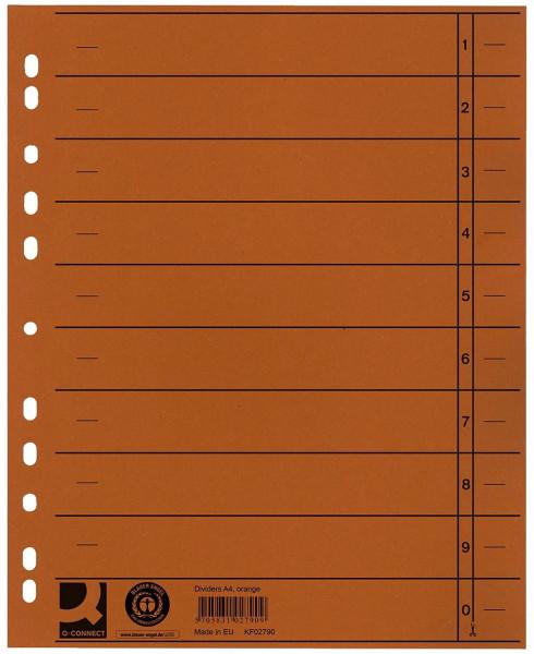 Q-Connect Trennblätter orange, A4 Überbreite, 100 Stück
