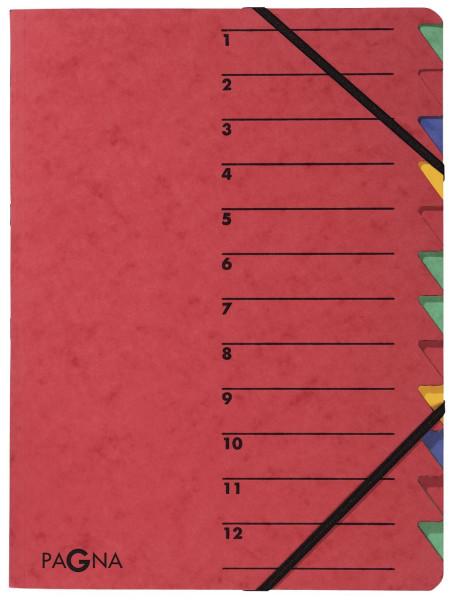 Ordnungsmappen EASY - mit 12 Fächern, rot