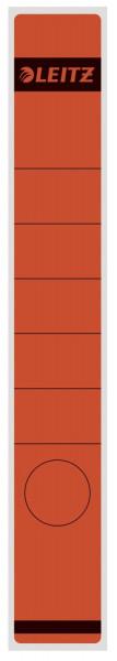 1648 Rückenschilder - Papier, lang/schmal, 10 Stück, rot