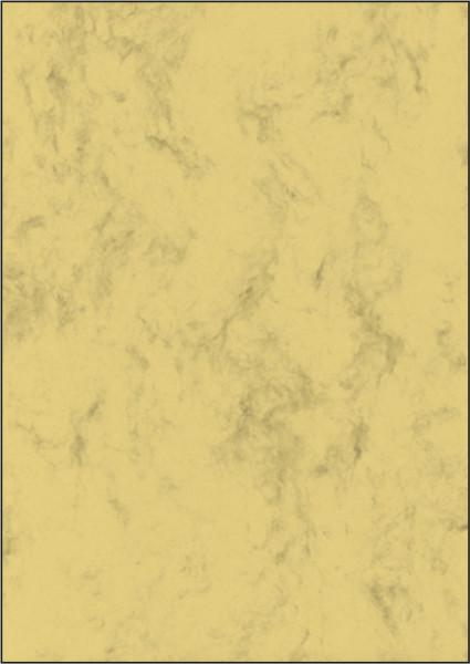 Marmor-Papier, sandbraun, A4, 90 g/qm, 100 Blatt