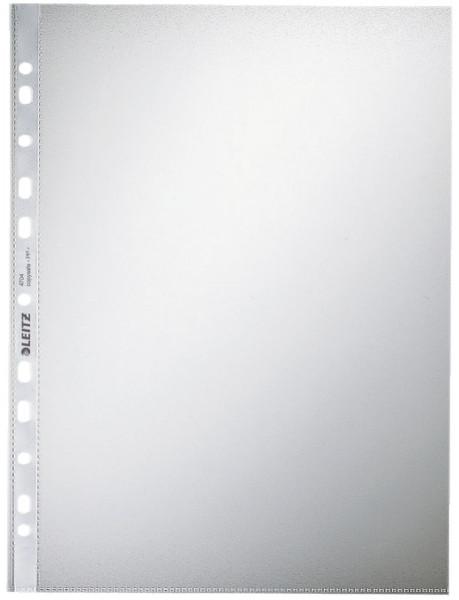 Leitz 4704 Prospekthülle, A4, PP, genarbt, 0,10mm, farblos, 100 Stück