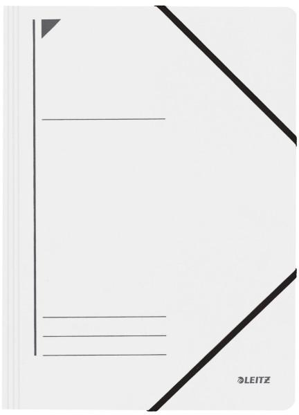Leitz 3980 Eckspanner, weiß, A4, 250 Blatt, Pentarec-Karton