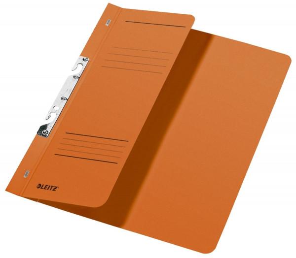 Leitz 3744 Schlitzhefter, orange halber Vorderdeckel, A4, kfm. Heftung, Manilakarton 250 g/qm