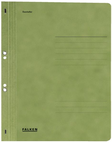 Falken Ösenhefter A4 ganzer Vorderdeckel, grün, Manilakarton, 250 g/qm