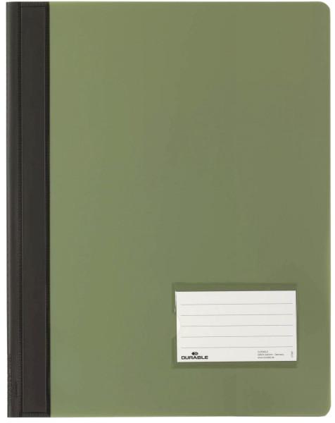 Schnellhefter DURALUX® - transluzente Folie, für A4 überbreit, grün