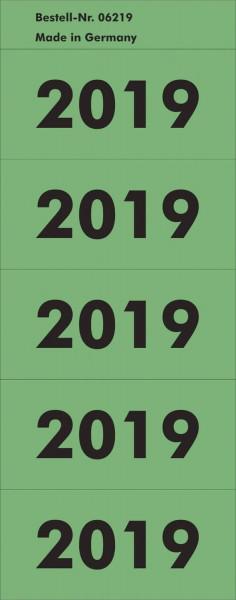 Inhaltsschild 2019 - selbstklebend, 100 Stück, grün