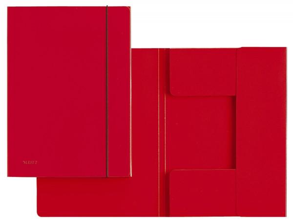 3926 Sammelmappe, A4, Hartpappe, rot