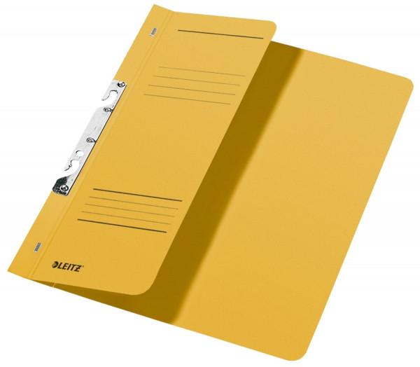 Leitz 3744 Schlitzhefter, gelb ganzer Vorderdeckel, A4, kfm. Heftung, Manilakarton 250 g/qm