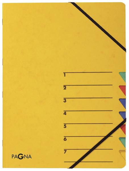 Ordnungsmappen EASY - mit 7 Fächern, gelb