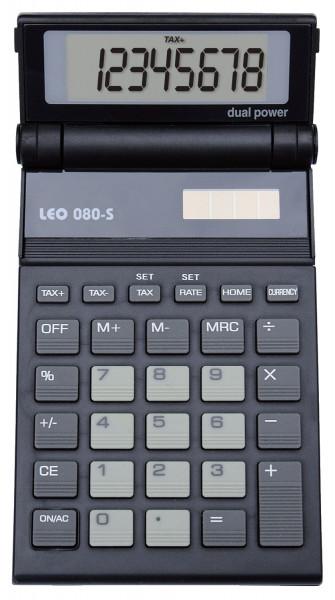 LEO® Solar-Taschenrechner 080S, anthrazit, 8-stellig