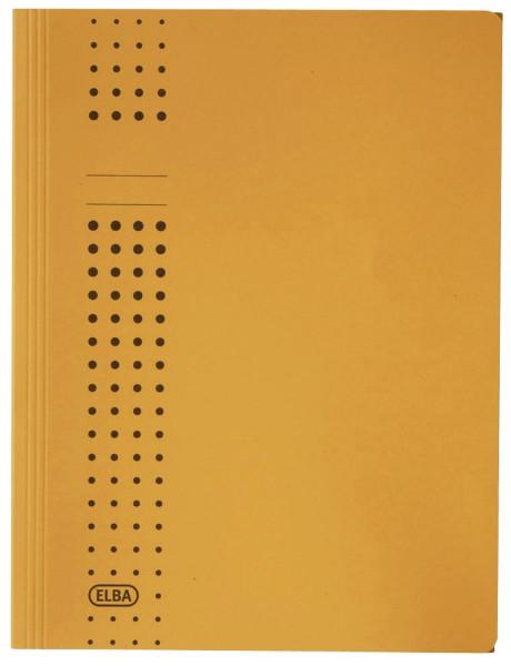 Sammelmappe chic, Karton (RC), 320 g/qm, A4, 10 mm, gelb