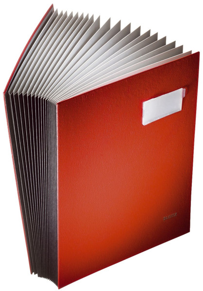 Leitz 5700 Unterschriftenmappe, rot, 20 Fächer, Überzug PP,