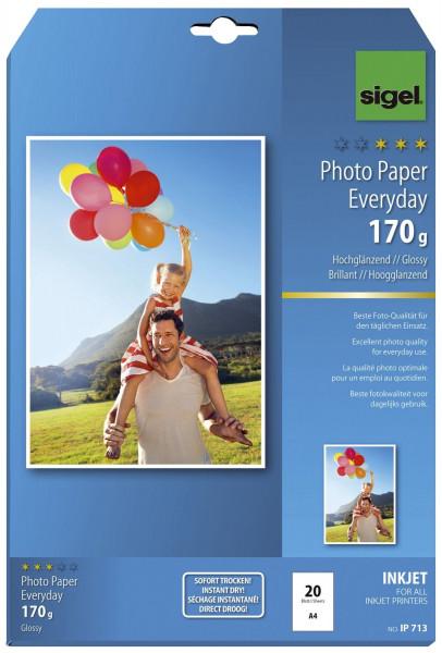 Inkjet Fotopapier Everyday - A4, hochglänzend, 170 g/qm, 20 Blatt