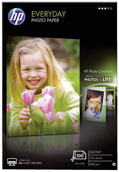 Fotopapier Standard - 10x15 cm, glänzend, 200 g/qm, 100 Blatt