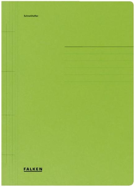 Falken Karton Schnellhefter grün Manilakarton