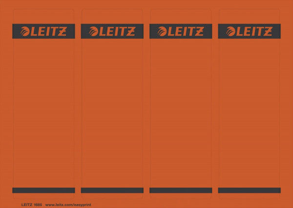 1685 PC-beschriftbare Rückenschilder - Papier, kurz/breit,100 Stück, rot