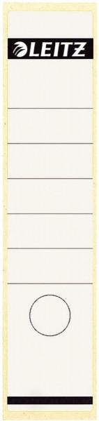 1640 Rückenschilder - Papier, lang/breit, 10 Stück, weiß