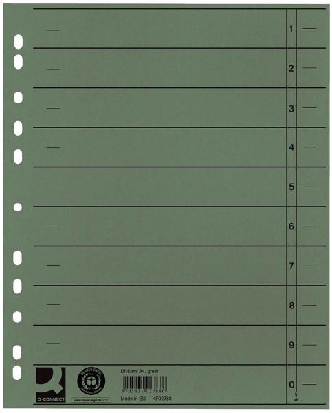 Q-Connect Trennblätter grün, A4, Überbreite, 100 Stück