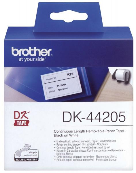 DK-Endlosetiketten Papier-Etiketten 62 mm x 30,48 m, ablösbar weiß