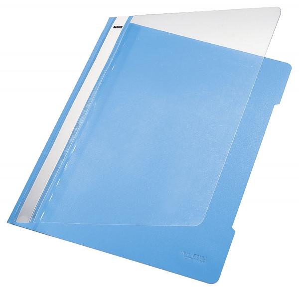 Leitz 4191 PVC Hefter hellblau Standard, A4, langes Beschriftungsfeld