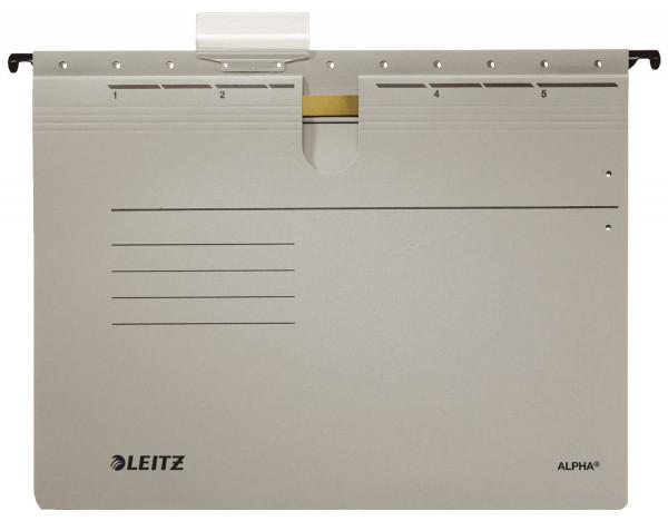 Leitz 1984 grau Hängehefter ALPHA® - kfm. Heftung, Recyclingkarton,