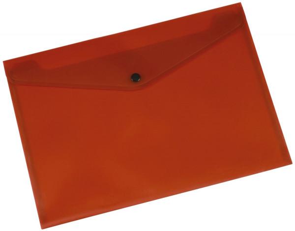 Q-Connect Dokumentenmappe transluzent rot, A4 bis zu 50 Blatt