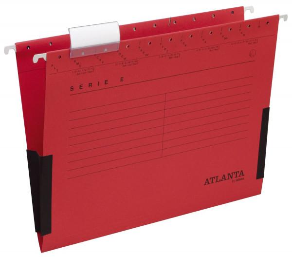 Atlanta Hängetaschen rot Serie E, Leinenfrösche, inkl. Vollsichtreiter und Blankoschildchen