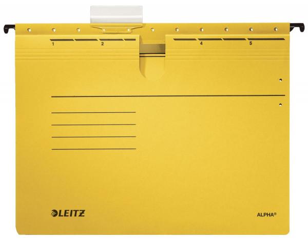 Leitz 1984 gelb Hängehefter ALPHA® - kfm. Heftung, Recyclingkarton