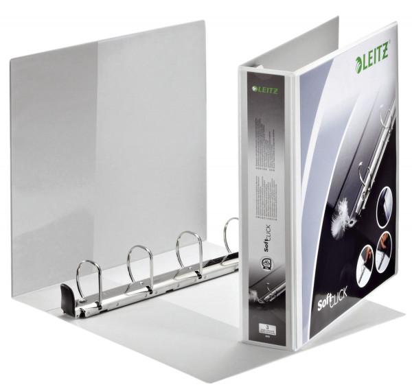 4203 Ringbuch SoftClick, A4, mit Taschen, 4 Ringe, 40 mm, weiß