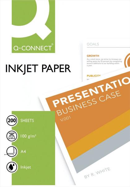 Inkjet-Papiere Premium - einseitig beschichtet, A4, 100 g/qm, weiß, 200 Blatt