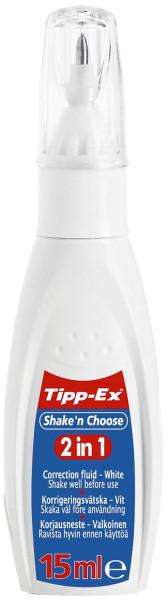 Tipp-Ex® Korrekturstift Shake´n Choose 2 in 1, 15 ml, weiß