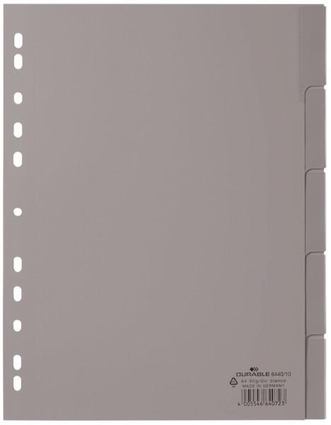 Durable 6440 Register blanko, grau, PP A4, 5 Blatt