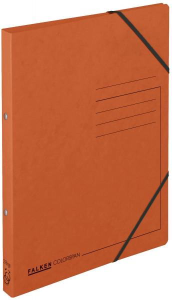 Falken Ringbuch Colorspankarton orange A4, 2-Ring, Gummizug