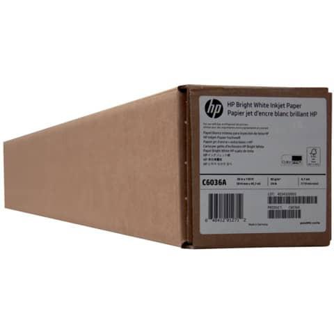 HP® Plotterpapier Bright White - 914 mm x 45,7 m, 90 g/qm, 1 Rolle