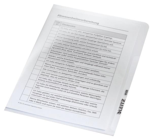 Leitz 4105 Sichthülle Premium, A5, PVC, dokumentenecht, glasklar