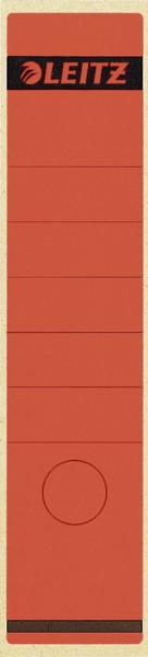 1640 Rückenschilder - Papier, lang/breit, 10 Stück, rot