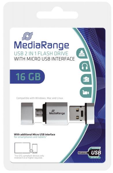 USB Mobile 2 in 1 OTG USB-Stick 16GB