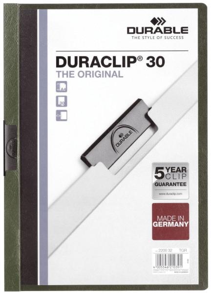 Klemm-Mappe DURACLIP® 30, DIN A4, petrol/dunkelgrün