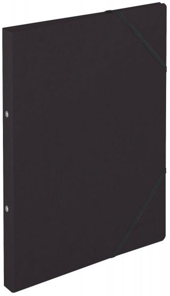 Falken Ringbuch Colorspankarton schwarz A4, 2-Ring, Gummizug