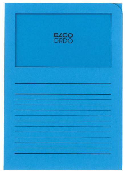Elco Sichtmappen Ordo classico, mit Sichtfenster, intensiv blau, 100 Stück