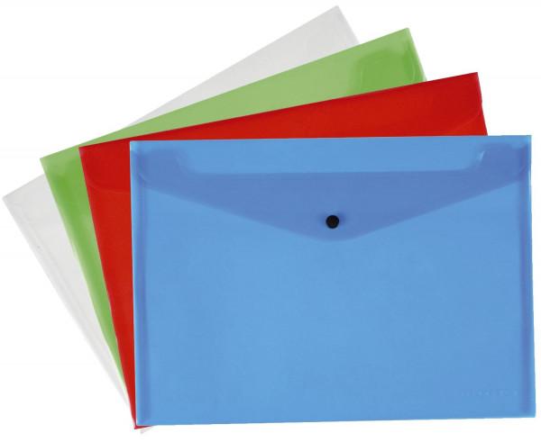 12 Q-Connect Dokumentenmappen transluzent sortiert, A4 bis zu 50 Blatt