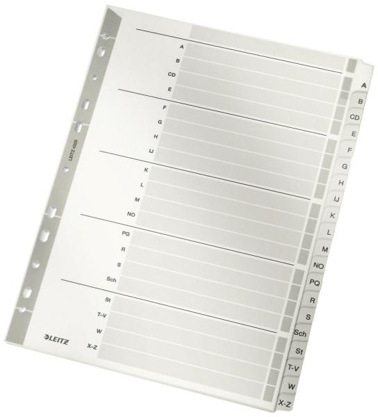 4328 Register - A-Z, Karton, A4, 20 Blatt, grau