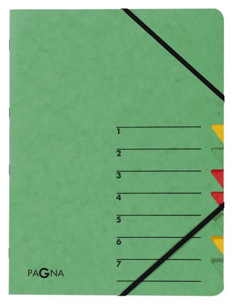 Ordnungsmappen EASY - mit 7 Fächern, grün