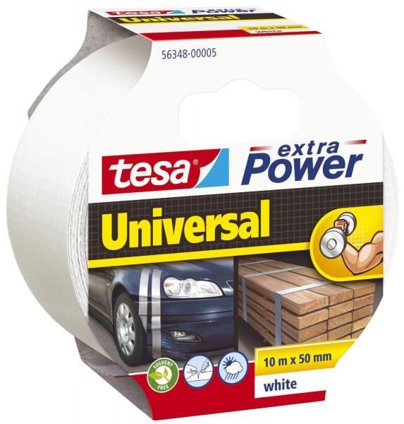 Gewebeklebeband extra Power Universal, 10 m x 50 mm, weiß
