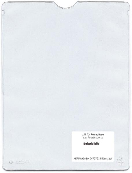 Herma 5022 Ausweishüllen 110x155 mm für Format DIN A6, Sparbücher