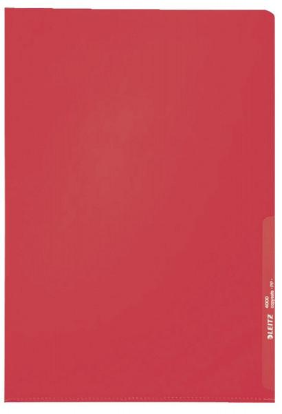 Leitz 4000 Standard Sichthülle rot, A4, PP-Folie, genarbt, 0,13 mm