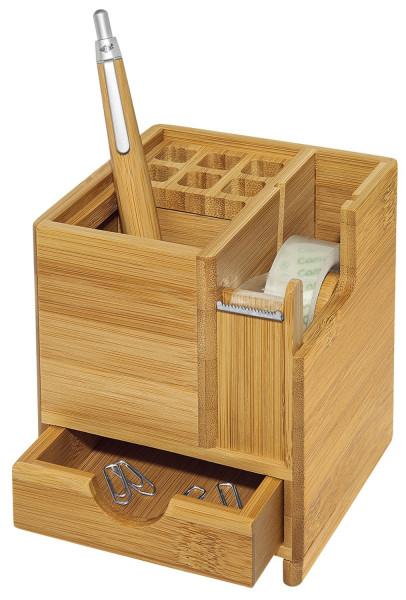 Schreibköcher Bambus braun