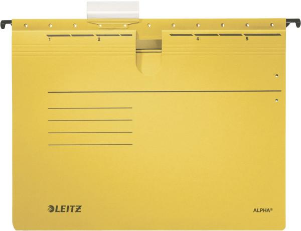 Leitz 1984 gelb Hängehefter ALPHA® - kfm. Heftung, Colorspankarton, 5 Stück